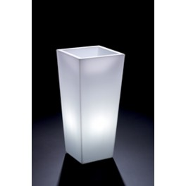 Cachepot Genesis Cuadrado Alto c/luz 47x100h cm